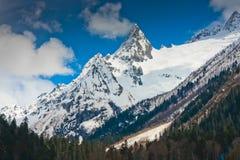 Ostry halny szczyt Zdjęcie Royalty Free