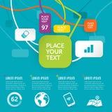 Ostry infographic projekt Obrazy Royalty Free