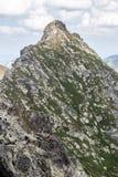Ostry Rohac peak in Zapadne Tatry mountains in Slovakia. Sharp Ostry Rohac mountain peak on Rohace mountain group in Zapadne Tatry mountains in Slovakia stock photos
