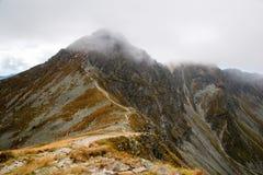 Ostry Rohac szczyt przy Tatras Fotografia Stock