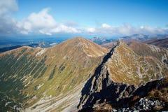 Ostry Rohac szczyt przy Tatras Zdjęcie Stock
