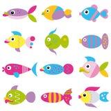 Ostry rybi kolekcja wzór Zdjęcia Stock