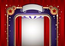 ostry sceny do teatru royalty ilustracja