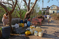 Ostry Wodny kryzys w Mumbai Obraz Stock
