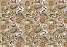 Ostryga starzejący się papierowy tło royalty ilustracja