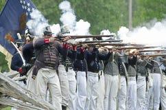 ostrzał amerykańska linia Obrazy Royalty Free