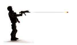 ostrzału żołnierza broń Obraz Stock