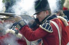 ostrzału brytyjski żołnierz Zdjęcie Stock