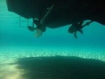 Ostrza motorowej prędkości łódkowaty rotor, frontowa strona Obraz Royalty Free