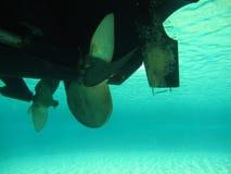 Ostrza motorowej prędkości łódkowaty rotor, lewa strona obrazy stock