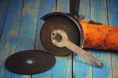 Ostrzarz, dysk i klucz, Zdjęcie Royalty Free