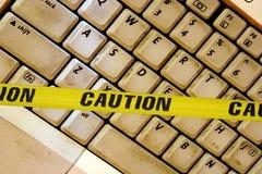 ostrzeżenie internetu Fotografia Royalty Free