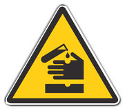 ostrzeżenie kwasu Zdjęcie Stock