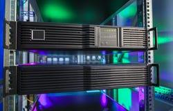 Ostrze serweru zakończenie, superkomputer Zdjęcie Stock