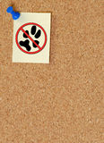 ostrzec żadnych zwierząt domowych Zdjęcia Stock