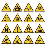 ostrzec znaków Obrazy Royalty Free