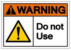 Ostrzegający no Używa symbolu znaka, Wektorowa ilustracja, Odizolowywa Na Białej tło etykietce EPS10 ilustracji