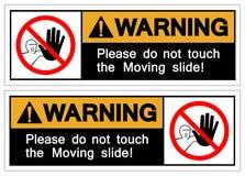 Ostrzegający Zadawalam no Dotyka Poruszającego obruszenie symbolu, Wektorowa ilustracja, Odizolowywa Na Białej tło etykietce EPS1 ilustracji