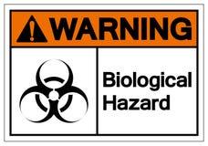 Ostrzegawczy Biologiczny zagro?enie symbolu znak, Wektorowa ilustracja, Odizolowywaj?ca Na Bia?ej t?o etykietce EPS10 ilustracja wektor