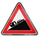 Ostrzegawczy ciężki wzrost dla samochodów z przyczepą Zdjęcie Royalty Free