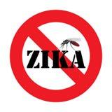 Ostrzegawczy zika wirusa komar Zdjęcie Stock