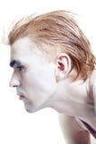 ostrzyżenia makeup mężczyzna srebro elegancki zdjęcie royalty free