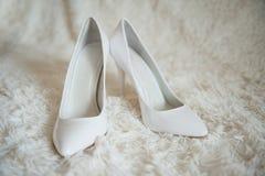 Ostrzy biel buty Zdjęcia Royalty Free
