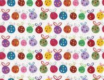 Ostrzy Bożenarodzeniowi baubles i confetti royalty ilustracja