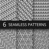 Ostrzy kreskowi geometryczni wektorowi bezszwowi wzory Obraz Stock