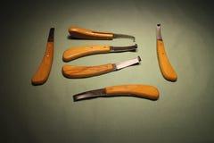 Ostrzy racicowi knifes zdjęcia stock