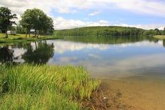 Ostrzyckie湖在波兰 库存照片