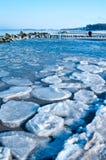 Ostsee des Winters szenisch stockbilder