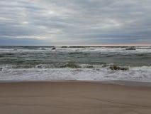 Ostsee im wolkigen Wetter stockfoto
