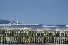 Ostsee, Uferschutz Stockfotografie