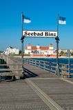 Ostseebad Binz, isola di Ruegen, Germania Fotografie Stock Libere da Diritti