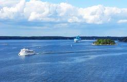 Ostseeinsel im Sommer lizenzfreie stockbilder