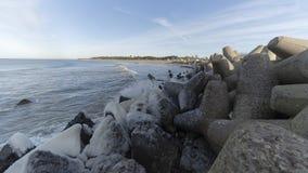 Ostseeseitenstrandpier stockbild