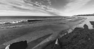 Ostseeseitenstrandpier stockbilder