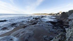 Ostseeseitenstrandpier stockfoto