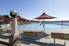 Oststrand-Schwimmen-Einschließung Stockbilder