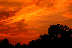 Osttennessee-Sonnenuntergang Stockfotos