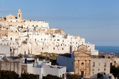 Ostuni. Beautiful view of Ostuni, the white city in the south of Italy Stock Photography