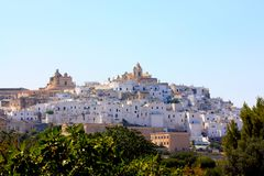 Ostuni, Apulia, Italy Royalty Free Stock Photos