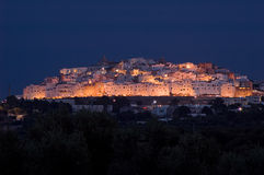 Ostuni (Apulia-Italy) by night royalty free stock photos