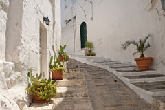 Ostuni (Apulia, Italy) - Old town Royalty Free Stock Photography