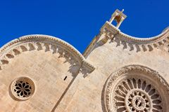 Ostuni cathedral, detail stock photo
