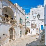 Scenic summer view in Ostuni, province of Brindisi, Apulia, Italy. stock photo