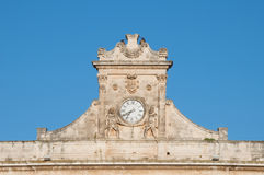 Ostuni clock Royalty Free Stock Photos