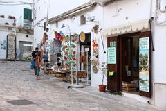 Ostuni, Italy. MAY 29, 2017: People visit Ostuni Old Town in Italy. Ostuni is a major tourism destination in the region of Apulia, and has a big expat Stock Images