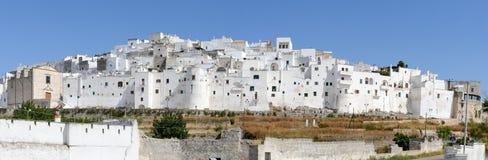 Ostuni la ville blanche de la Puglia photographie stock